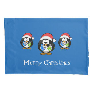 Holiday Penguins Pillow Case