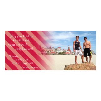 Holiday Peppermint Candy 4x9.25 Paper Invitation Card