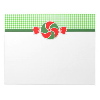 Holiday Peppermints Red and Green Notepad