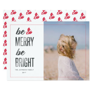 Holiday Photo Card | Be Merry Be Bright