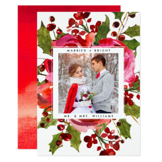 HOLIDAY PHOTO CARD | Married and Bright Christmas