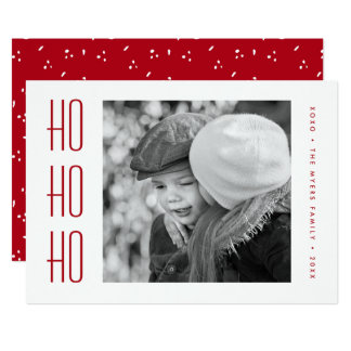 HOLIDAY PHOTO CARD | Minimal Simple Red Christmas