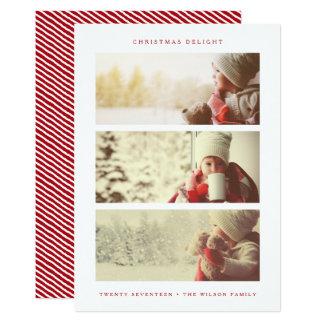 HOLIDAY PHOTO CARD | Modern Minimal Red Christmas