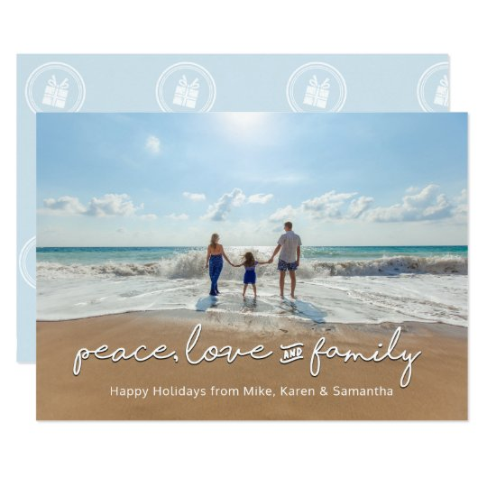 Holiday Photo Card | Peace, Love and Family