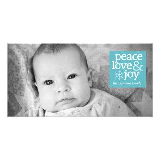 Holiday Photo Card - Peace Love and Joy