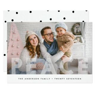 HOLIDAY PHOTO CARD | Peace Minimal Dots Christmas
