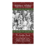 Holiday Photo Card: Red & Green Swirls
