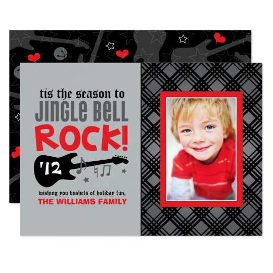 Holiday Photo Card | Red Jingle Bell Rock