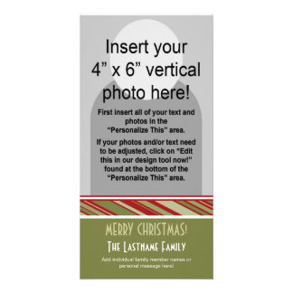 Holiday Photo Card: Retro Stripes Photo Cards