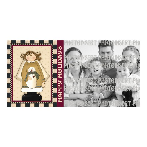 Holiday Photo Cards - Angel Snowman