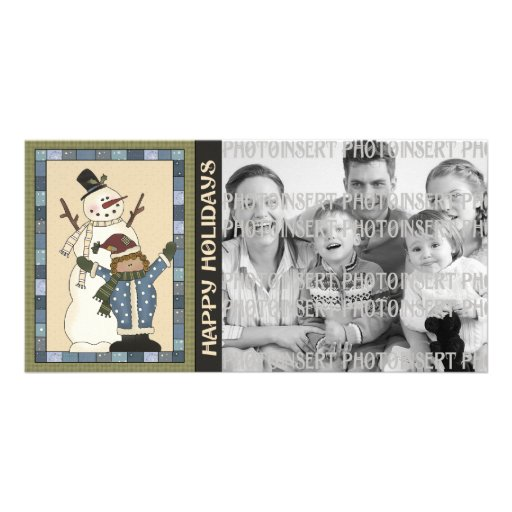 Holiday Photo Cards - Snowman Fun
