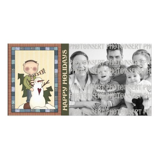 Holiday Photo Cards - Snowman's Heart