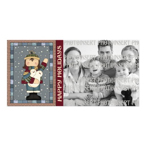 Holiday Photo Cards - Winter Snowmen