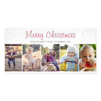 Holiday Photo Collage Merry Christmas Picture Personalized Photo Card