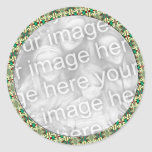 Holiday Photo Frame Round Stickers