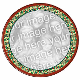 Holiday photo frame standing photo sculpture