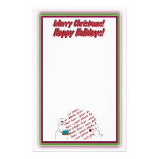 Holiday Photo Frame Writing Custom Stationery