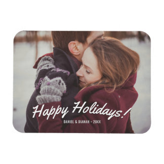 Holiday Photo Magnets - Happy Holidays Custom Text