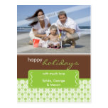 HOLIDAY PHOTO POSTCARD :: spotted bracket P2