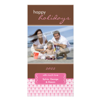 HOLIDAY PHOTOCARD :: spotted bracket P3 Personalised Photo Card