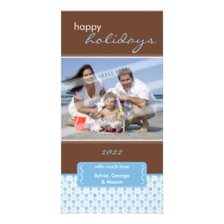 HOLIDAY PHOTOCARD :: spotted bracket P4 Card