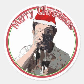 Holiday Photographer Round Sticker