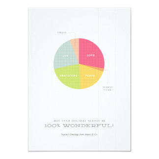 Holiday Pie Chart Corporate Christmas Card 13 Cm X 18 Cm Invitation Card