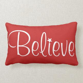 Holiday Pillow-Believe Lumbar Cushion