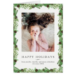 Holiday Pine | Christmas Photo Card