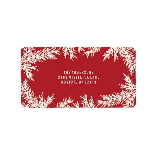 Holiday Pine | Holiday Address Labels