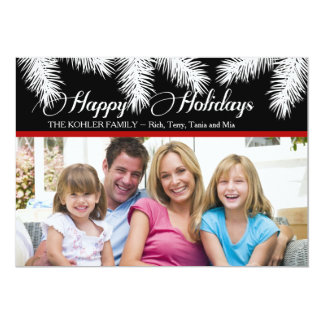 Holiday Pines Photo Card 13 Cm X 18 Cm Invitation Card