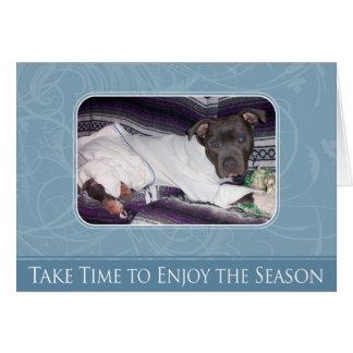 Holiday Pitbull Card