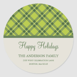 HOLIDAY PLAID | HOLIDAY ADDRESS LABEL