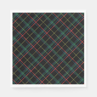 Holiday Plaid Napkins Disposable Serviette