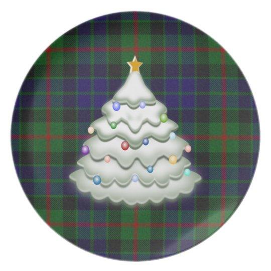 Holiday Plaid Plate