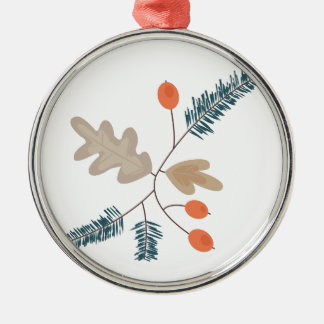 Holiday Plants Silver-Colored Round Decoration
