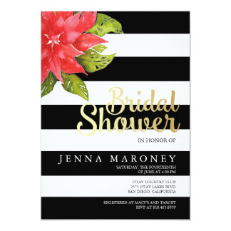 Holiday & Poinsetta Bridal Shower Invitation