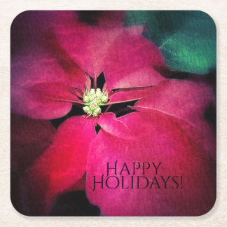 Holiday Poinsettia Coasters