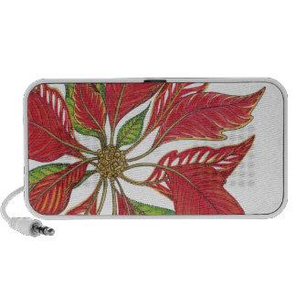Holiday Poinsettia Customizable Travelling Speaker