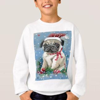 Holiday Pug Dog Design Sweatshirt