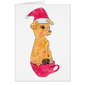 Holiday Puppy Card