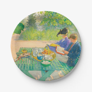 Holiday Reading by Carl Larsson 7 Inch Paper Plate