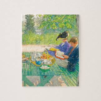 Holiday Reading by Carl Larsson Puzzle