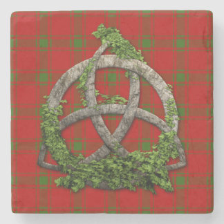 Holiday Red And Green Plaid Stone Coaster