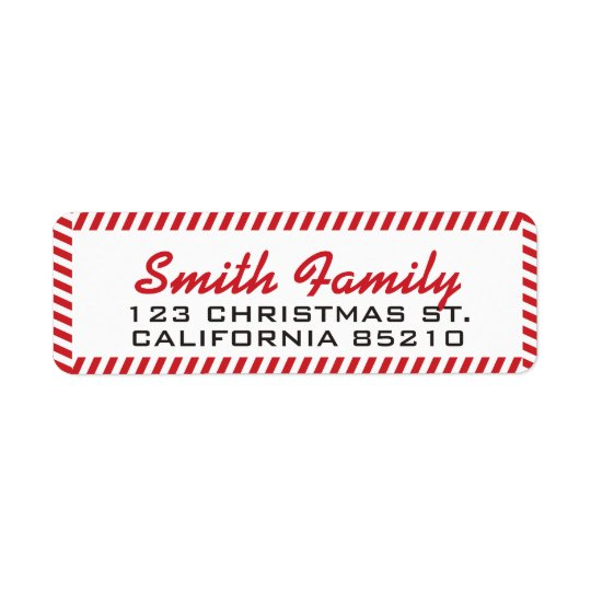 Holiday Red and White Border