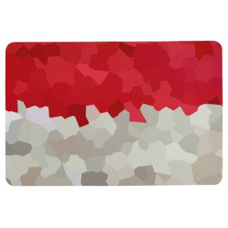Holiday Red and White Santa Mosaic Abstract Floor Mat