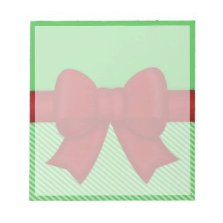 Holiday Red Bow Notepad
