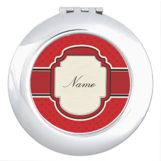 Holiday Red Customized Compact Mirror