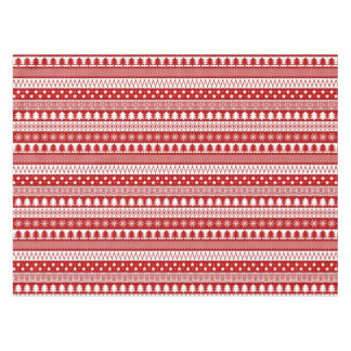 Holiday Red Stripes Pattern Tablecloth