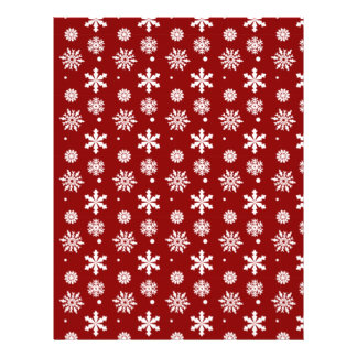 Holiday Red White Snowflakes Pattern 1 Flyer